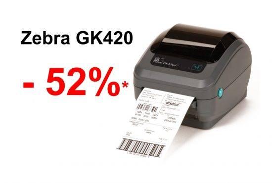 Fantastyczny 52% rabatu na drukarkę kodów kreskowych Zebra GK420 - Jantar GL43